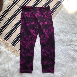 lululemon wunder under II capris tie dye purple